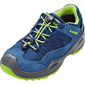 Lowa Robin GTX Low Shoes Kinder blue/lime